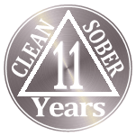 10 years clean and sober